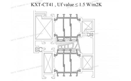 Uf 1,5 K / m2K CT 41 mm Isolierstege | Lösungen für Fensterrahmen aus Aluminium